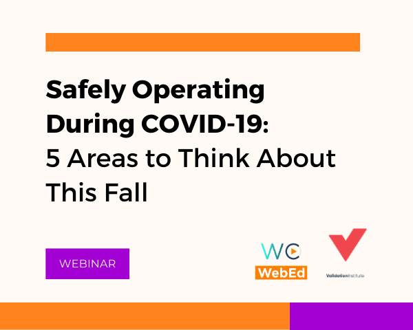 Safely Operating During COVID-19: 5 Areas to Think About This Fall